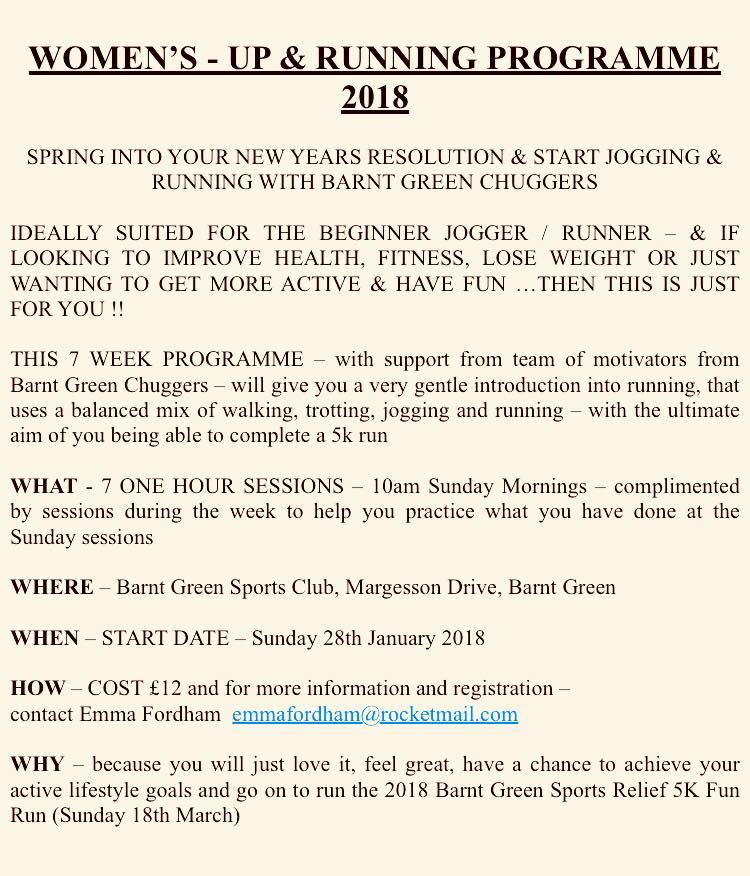 Women's Up and Running Programme 2018 @ Barnt Green Sports Club | Barnt Green | England | United Kingdom