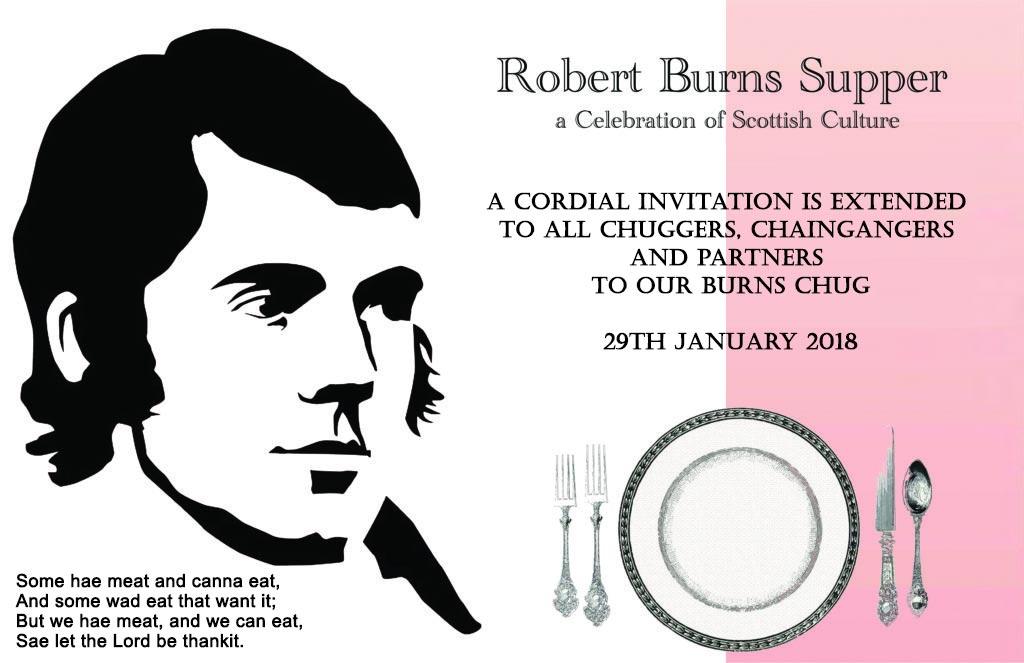 Burns Chug Invitation