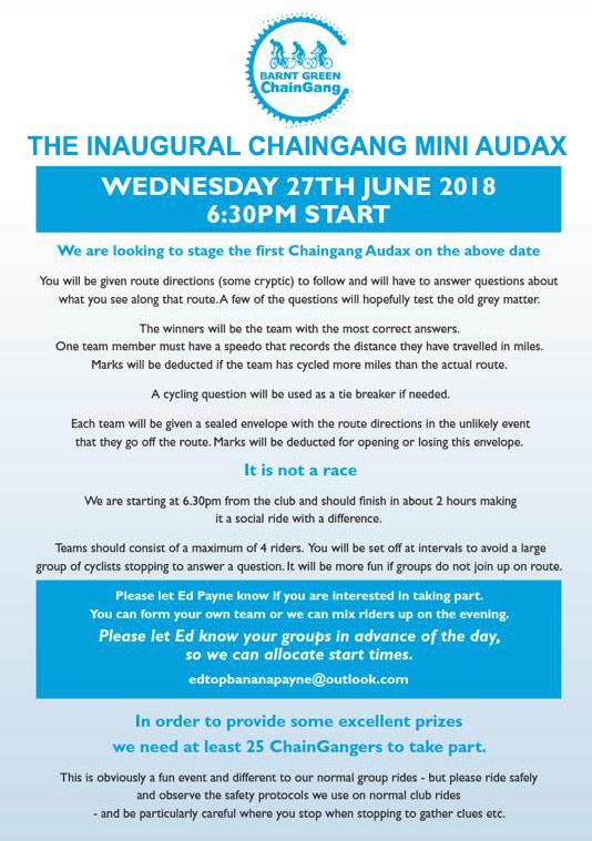 Inaugural ChainGang MiniAudax